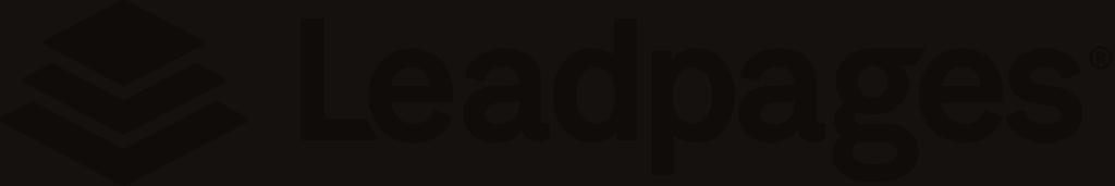 Leadpages logo black