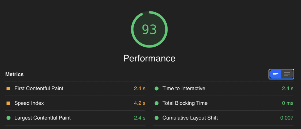Bluehost Google Page Speed Insights Test