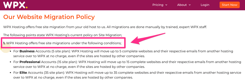 website migration policy