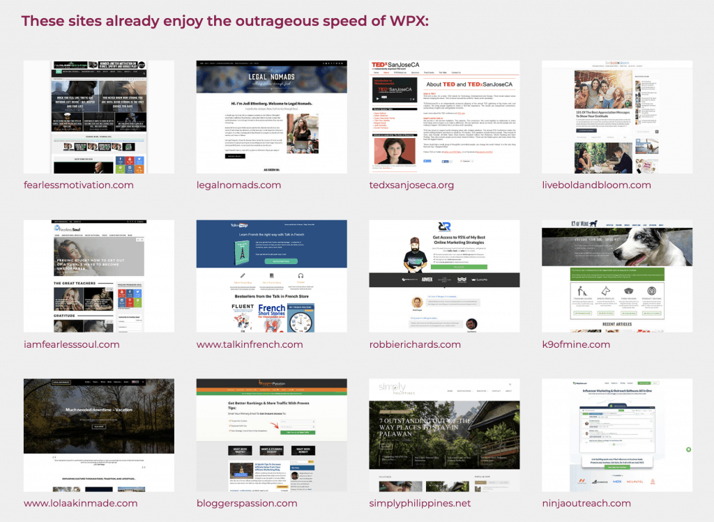 WPX Hosted Websites