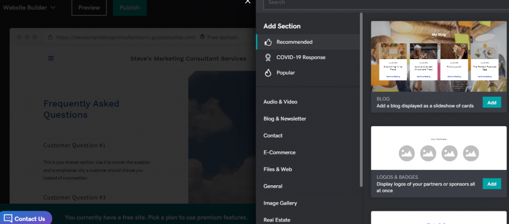 Advanced Website Builder Features
