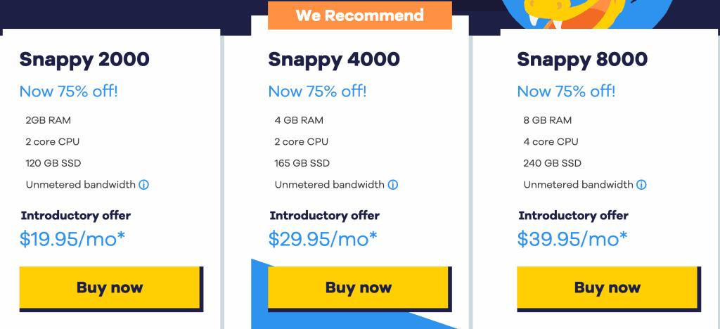 HostGator VPS Pricing