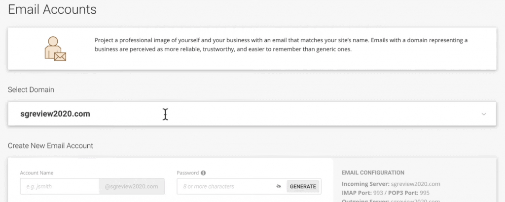 Create an Email with SiteGround