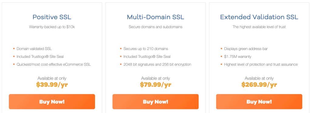 HostGator SSL Pricing