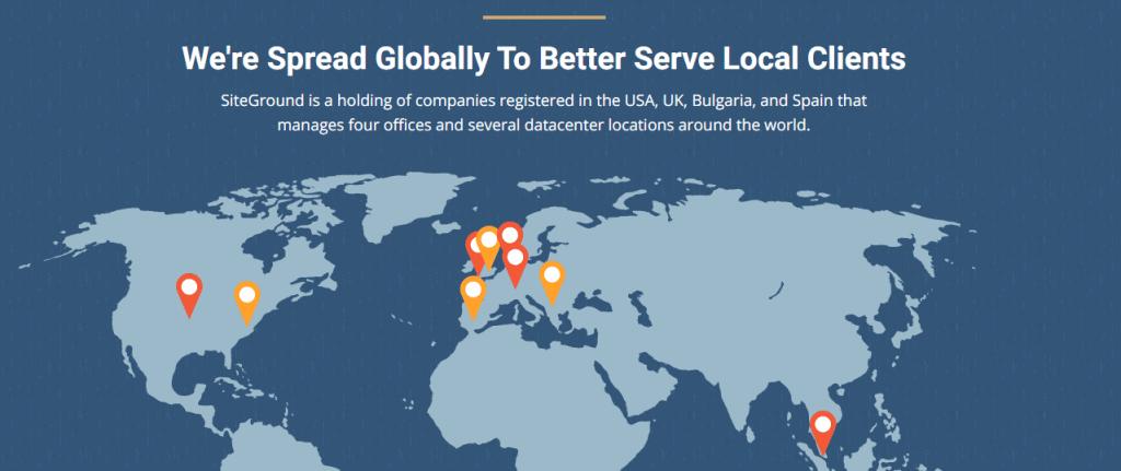 SiteGround Server Locations