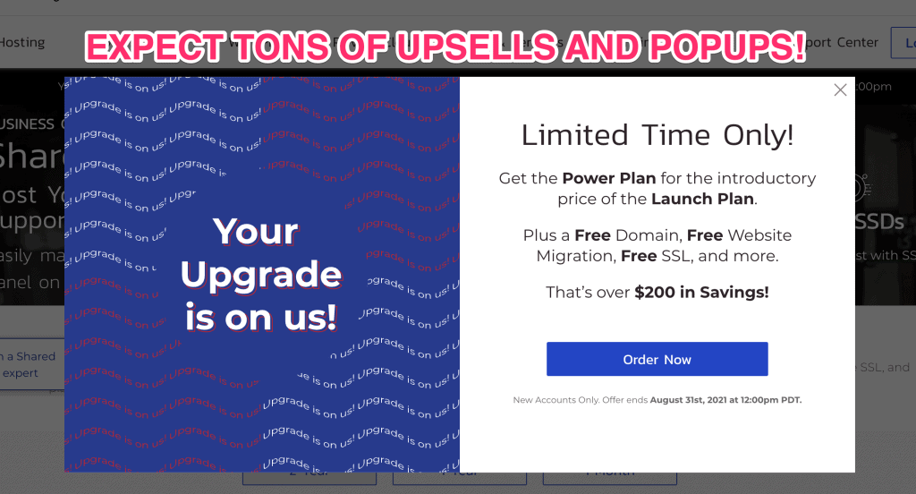 Upsells and popups from InMotion