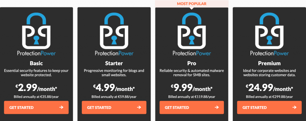 HostPapa Protection Power Pricing