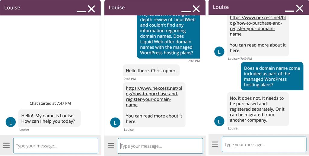 Liquid Web Live Chat Agent